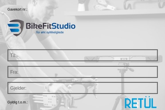 Gavekort Bike Fit