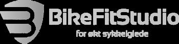 Logo Bike Fit Studio gjennomsiktig hvit